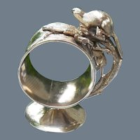 Antique Victorian Figural Beaver Silverplate Napkin Ring