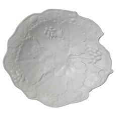 Antique Parianware Cream Dessert Serving Plate