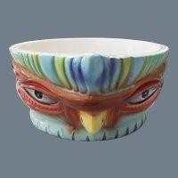 Steve Crane Luau Tiki Bird Bowl