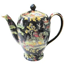 Royal Winton Black Pekin Coffeepot