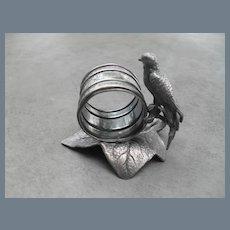 Antique Meriden Co Silverplate Bird Napkin Ring