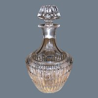 Large Heavy Crystal Whisky Decanter