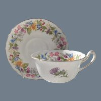 Shelley Spring Bouquet Teacup and Saucer 13651