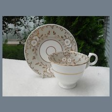 Early English Floral Teacup and Saucer