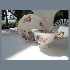 Shelley Blackberry Bramble Teacup and Saucer A2359