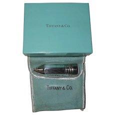 Rare Tiffany Sterling Silver Pencil Pill Box