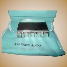 Rare Tiffany Sterling Silver Book Pill Box