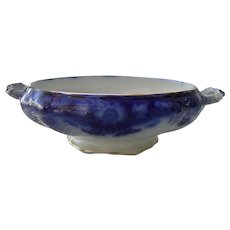 Early Myott Crumlin Flow Blue Open Vegetable Bowl