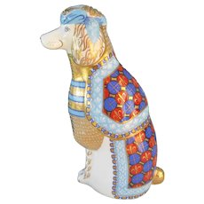 Royal Crown Derby French Poodle Paperweight Figurine