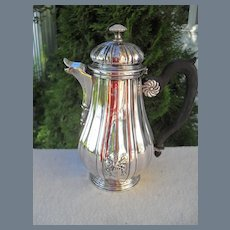 Antique French Silver Bachelor Armorial Coffeepot