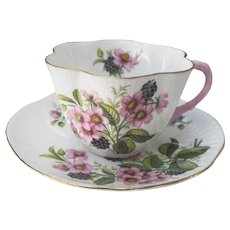 Shelley Blackberry Bramble Dainty Teacup and Saucer 2353