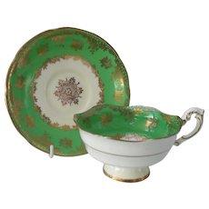 Paragon DW Green Gold Teacup and Saucer G7543/6