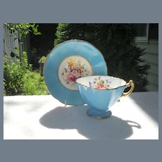 Gorgeous Hammersley Turquoise Teacup and Saucer