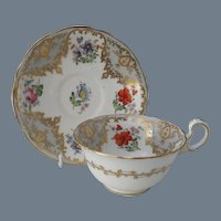 Aynsley Handpainted Floral Teacup and Saucer 3550