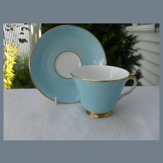 Royal Doulton Turquoise Teacup and Saucer H4848