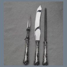 Birks Sterling Louis XV Carving Set