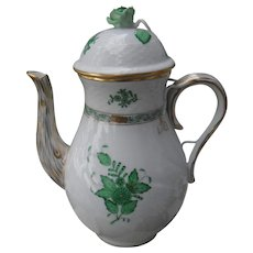 Herend Green Chinese Bouquet Coffeepot