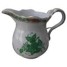 Herend Green Chinese Bouquet Creamer Pitcher