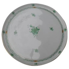 Herend Green Chinese Bouquet Round Tray