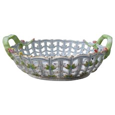 Herend Queen Victoria Lattice Bowl