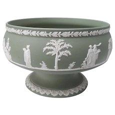 Vintage Wedgwood Green Jasperware Bowl