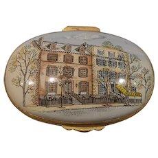 Vintage Crummles England Enamel Blair House Pill Box
