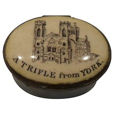 Antique Battersea Trifle from York Enamel Pill Box