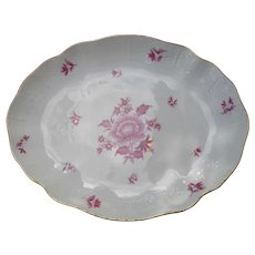 Herend Raspberry Nanking Bouquet Serving Dish