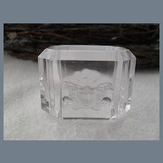 Rosenthal Versace Medusa Crystal Napkin Ring