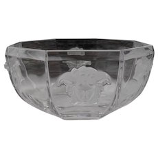 "Rosenthal Versace Medusa Crystal 7"" Bowl"