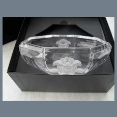 "Rosenthal Versace Medusa Crystal 5"" Bowl with Box"