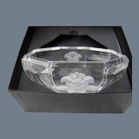 "Rosenthal Versace Medusa Crystal 5"" Bowl with Box"