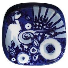 Vintage Rosenthal Flow Blue Bjorn Wiinblad Chicken Plate