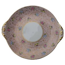 Shelley Chintz Pansy Rose Forget Me Not Cakeplate