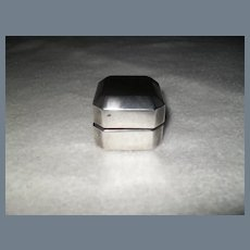 Vintage Sterling Silver Ring Box