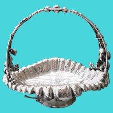 Antique Middletown Co Leaf and Berry Quadruple Silver-plate Basket