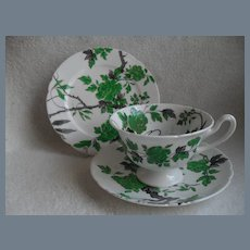 Shelley China Chippendale 10494 Teacup Saucer Trio