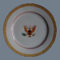 Rare Antique Porcelain E Pluribus Unum Dinner Plates (12)