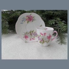 Vintage Shelley Stocks Demitasse Cup and Saucer 13428