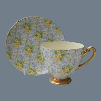 Shelley Primrose Chintz Teacup and Saucer 13589