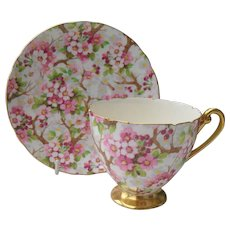 Vintage Shelley 'Maytime' Teacup and Saucer 13386