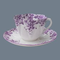 Rare Shelley Dainty Mauve Teacup and Saucer 051/M
