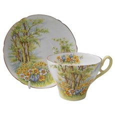 Vintage Shelley 'Daffodil Time' Teacup and Saucer 13370