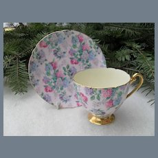 Shelley 'Summer Glory Chintz' Teacup and Saucer 13381