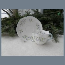 Shelley Blue Rock Teacup and Saucer 13591