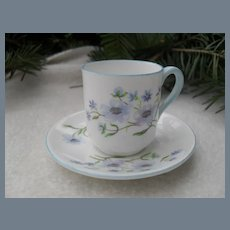 Miniature Shelley Blue Rock 13591 Teacup/Saucer