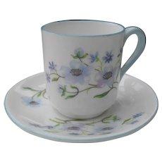 Miniature Shelley Blue Rock 13591 Teacup/Saucer