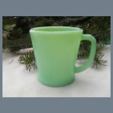 Vintage Fire King Jadeite D Shape Handle Mug
