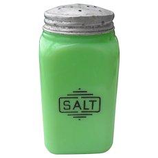 McKee Small Box Range Salt Shaker Jadeite Green