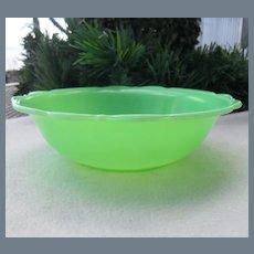 Vintage McKee Jadeite Scallopped Bowl